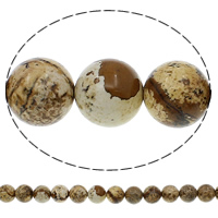 Boom Agaat kralen, Ronde, natuurlijk, verschillende grootte voor keus, Gat:Ca 1mm, Lengte:Ca 15.7 inch, Verkocht door Bag