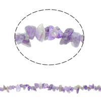 Natural Amethyst Beads, Chips, February Birthstone, 5-8mm, Hole:Approx 0.8mm, Approx 260PCs/Strand, Sold Per Approx 33 Inch Strand