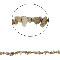 Natural Picture Jasper Beads, Nuggets, 5-8mm, Hole:Approx 0.8mm, Approx 260PCs/Strand, Sold Per Approx 34.6 Inch Strand