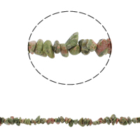 Natural Unakite Beads, Nuggets, 5-8mm, Hole:Approx 0.8mm, Approx 260PCs/Strand, Sold Per Approx 34.6 Inch Strand