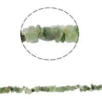 Luonnollinen Moss akaatti helmet, Chips, 5-8mm, Reikä:N. 0.8mm, N. 260PC/Strand, Myyty Per N. 34.6 tuuma Strand