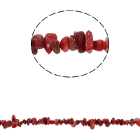Natural Coral Beads Nuggets red 5-8mm Hole:Approx 0.8mm Approx 260PCs/Strand Sold Per Approx 33.8 Inch Strand