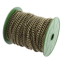 Iron Jewelry Chain, with plastic spool, antique bronze color plated, curb chain, nickel, lead & cadmium free, 8x6mm, 25m/Spool, Sold By Spool
