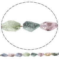 Druzy Koraliki, Kwarc naturalny, Bryłki, styl druzy & ukończył koraliki, mieszane kolory, 9-21mm, 18-33mm, otwór:około 1mm, długość:około 16 cal, 5nici/torba, około 17komputery/Strand, sprzedane przez torba