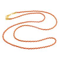 Сеть Тканые ожерелье, Железо, с Нейлоновый шнурок, цинковый сплав Замок-карабин, плакирован золотом, не содержит никель, свинец, 2mm, длина:Приблизительно 24 дюймовый, 10пряди/сумка, продается сумка
