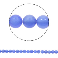 Natural Blue Agate Beads, Round, different size for choice, Hole:Approx 1mm, Length:Approx 15 Inch, Sold By Bag