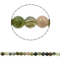 Luonnollinen Moss akaatti helmet, Pyöreä, erikokoisia valinnalle, sekavärit, Reikä:N. 1mm, Pituus:N. 15 tuuma, Myymät laukku
