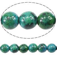 Natural Malachite Beads, Round, 8mm, Hole:Approx 1mm, Length:Approx 16 Inch, 20Strands/Lot, Approx 49PCs/Strand, Sold By Lot