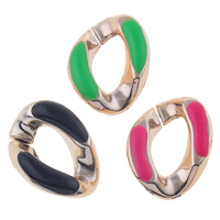 Copper Coated Plastic Linking Ring Twist UV plating enamel nickel lead   cadmium free 500PCs/Bag