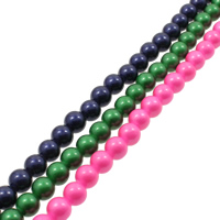 Gemstone Beads, Round, painted, different size for choice, more colors for choice, Hole:Approx 1mm, Length:Approx 15.7 Inch, Sold By Bag