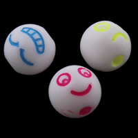 Solid Color Acrylic Beads, mixed, 8mm, Hole:Approx 1mm, Approx 1900PCs/Bag, Sold By Bag