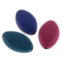 Cudowne akrylowe koraliki, Akryl, Końskie oko, Malowane, mieszane kolory, 14x23x5mm, otwór:około 1mm, około 358komputery/torba, sprzedane przez torba