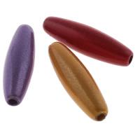 Cudowne akrylowe koraliki, Akryl, Owal, Malowane, mieszane kolory, 6x19mm, otwór:około 1mm, około 1480komputery/torba, sprzedane przez torba