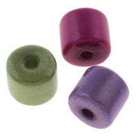 Cudowne akrylowe koraliki, Akryl, Kolumna, Malowane, mieszane kolory, 8x8mm, otwór:około 2mm, około 1280komputery/torba, sprzedane przez torba
