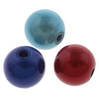 Cudowne akrylowe koraliki, Akryl, Koło, Malowane, różnej wielkości do wyboru, mieszane kolory, otwór:około 1-1.5mm, sprzedane przez torba
