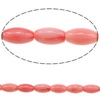 Natural Coral Beads Oval pink 9x5mm Hole:Approx 0.5mm Length:Approx 16 Inch 5Strands/Lot Approx 44PCs/Strand