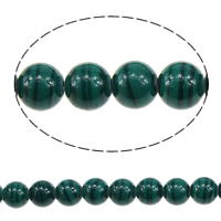 Malachite Beads, Round, different size for choice, green, Hole:Approx 1mm, Length:Approx 16 Inch, Sold By Lot