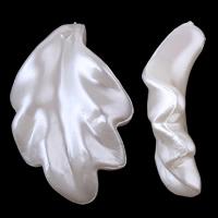 Tworzywa ABS perła Wisiorek, Liść, biały, 14x23x6mm, otwór:około 1mm, około 710komputery/torba, sprzedane przez torba