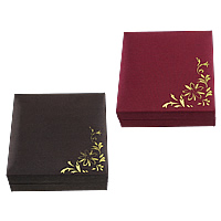Grosgrain Ribbon Bracelet Display, with Sponge & Velveteen & Plastic, Rectangle, with flower pattern, more colors for choice, 91x88x32mm, 10PCs/Lot, Sold By Lot