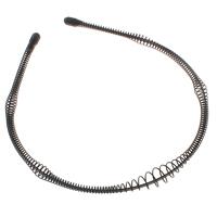 Ободок для волос, Железо, Спрей картины, черный, не содержит никель, свинец, 11mm, 123x140x11mm, 100ПК/сумка, продается сумка