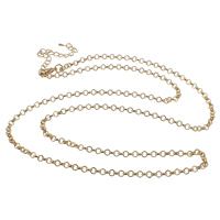 Iron Necklace Chain, with 7cm extender chain, plated, rolo chain, more colors for choice, nickel, lead & cadmium free, 3.8x1mm, Sold Per Approx 29 Inch Strand