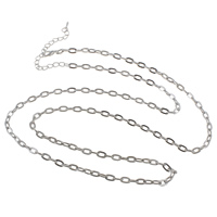 Iron Necklace Chain, with 7.5cm extender chain, plated, oval chain, more colors for choice, nickel, lead & cadmium free, 4x7x1.20mm, Sold Per Approx 31 Inch Strand