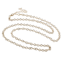 Iron Necklace Chain, with 7cm extender chain, plated, round link chain, more colors for choice, nickel, lead & cadmium free, 5x5x1mm, Sold Per Approx 29 Inch Strand
