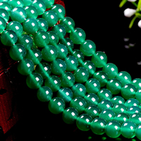 Natural Green Agate Beads, Round, different size for choice, Grade AAAAA, Length:Approx 15 Inch, Sold By Lot