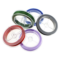 Elastic Thread, with plastic spool, more colors for choice, 1mm, 10PCs/Lot, 80m/PC, Sold By Lot