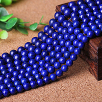 Natural Lapis Lazuli Beads, Round, different size for choice, Grade AAAAA, Sold Per Approx 15 Inch Strand