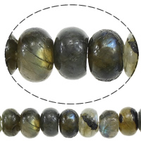 Natural Labradorite Beads, Rondelle, 5-6x8mm, Hole:Approx 1mm, Length:Approx 15.7 Inch, 3Strands/Lot, Approx 72PCs/Strand, Sold By Lot