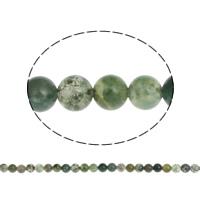 Luonnollinen Moss akaatti helmet, Pyöreä, erikokoisia valinnalle, Reikä:N. 1mm, Pituus:N. 15.7 tuuma, Myymät laukku