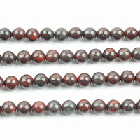 Jasper Brecciated Beads, Round, natural, different size for choice, nickel, lead & cadmium free, Hole:Approx 5mm, Sold By Lot