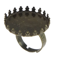 Brass Bezel Ring Base, antique bronze color plated, adjustable, nickel, lead & cadmium free, 26mm, Inner Diameter:Approx 25mm, US Ring Size:7, 50PCs/Lot, Sold By Lot
