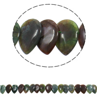 Ruby in Zoisite Beads, Teardrop, 22x31x5mm, Hole:Approx 1mm, Approx 23PCs/Strand, Sold Per Approx 15.5 Inch Strand