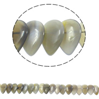 Natural Grey Agate Beads, Teardrop, 22x31x5mm, Hole:Approx 1mm, Approx 23PCs/Strand, Sold Per Approx 15.5 Inch Strand
