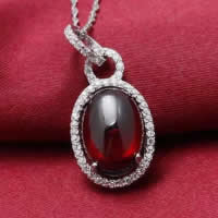 Cubic Zirconia Pendant, 925 Sterling Silver, Flat Oval, platinum plated, with cubic zirconia, 14x24mm, Hole:Approx 3x5mm, 3PCs/Lot, Sold By Lot