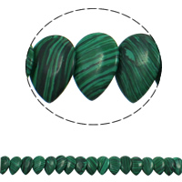Malachite Beads, Teardrop, 22x31x5mm, Hole:Approx 1mm, Approx 23PCs/Strand, Sold Per Approx 15.5 Inch Strand
