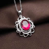 Cubic Zirconia Pendant, 925 Sterling Silver, Flower, platinum plated, with cubic zirconia & faceted, 20x24mm, Hole:Approx 3x5mm, 3PCs/Lot, Sold By Lot