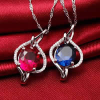 Cubic Zirconia Pendant, 925 Sterling Silver, Teardrop, platinum plated, with cubic zirconia & faceted, more colors for choice, 17x30mm, Hole:Approx 3-5mm, 3PCs/Lot, Sold By Lot