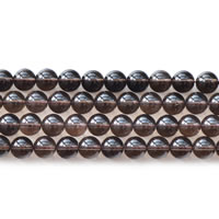 Natural Smoky Quartz Beads, Round, different size for choice, Length:Approx 15 Inch, Sold By Lot