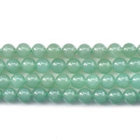 Green Aventurine Beads, Round, natural, different size for choice, Length:Approx 15 Inch, Sold By Lot