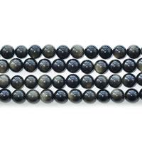 Musta Obsidian Helmet, Gold Obsidian, Pyöreä, luonnollinen, erikokoisia valinnalle, Pituus:N. 15 tuuma, Myymät erä