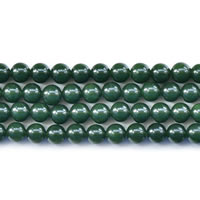 Dyed Jade Beads Round green Length:Approx 15 Inch