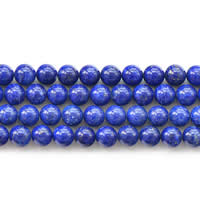 Natural Lapis Lazuli Beads, Round, different size for choice, Grade AAA, Sold Per Approx 15 Inch Strand