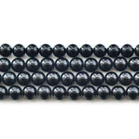 Tourmaline Beads, Round, natural, October Birthstone & different size for choice, black, Grade AAA, Sold Per Approx 15 Inch Strand