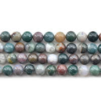 Natural Indian Agate Beads, Round, different size for choice, Sold Per Approx 15 Inch Strand