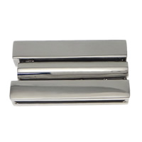 Stainless Steel Magnetic Clasp, Rectangle, original color, 32x18x6mm, Hole:Approx 30x2mm, 10PCs/Lot, Sold By Lot