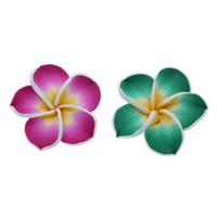Бусины из полимерной глины, полимерный клей, Форма цветка, Связанный вручную, разный размер для выбора, разноцветный, отверстие:Приблизительно 1mm, 100ПК/сумка, продается сумка