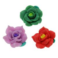Бусины из полимерной глины, полимерный клей, Форма цветка, Связанный вручную, разноцветный, 25mm, отверстие:Приблизительно 1mm, 100ПК/сумка, продается сумка
